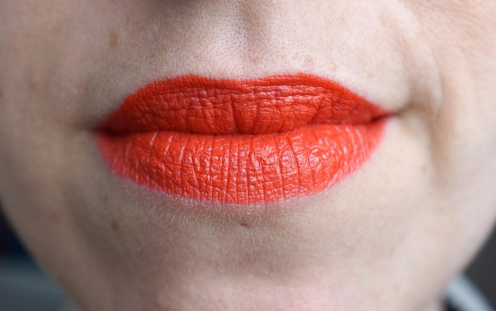 mac morange orange lipstick