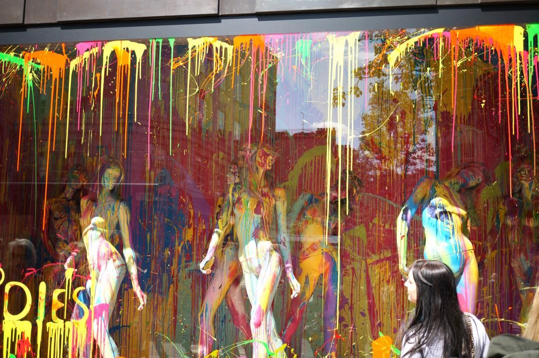 selfridges painted window