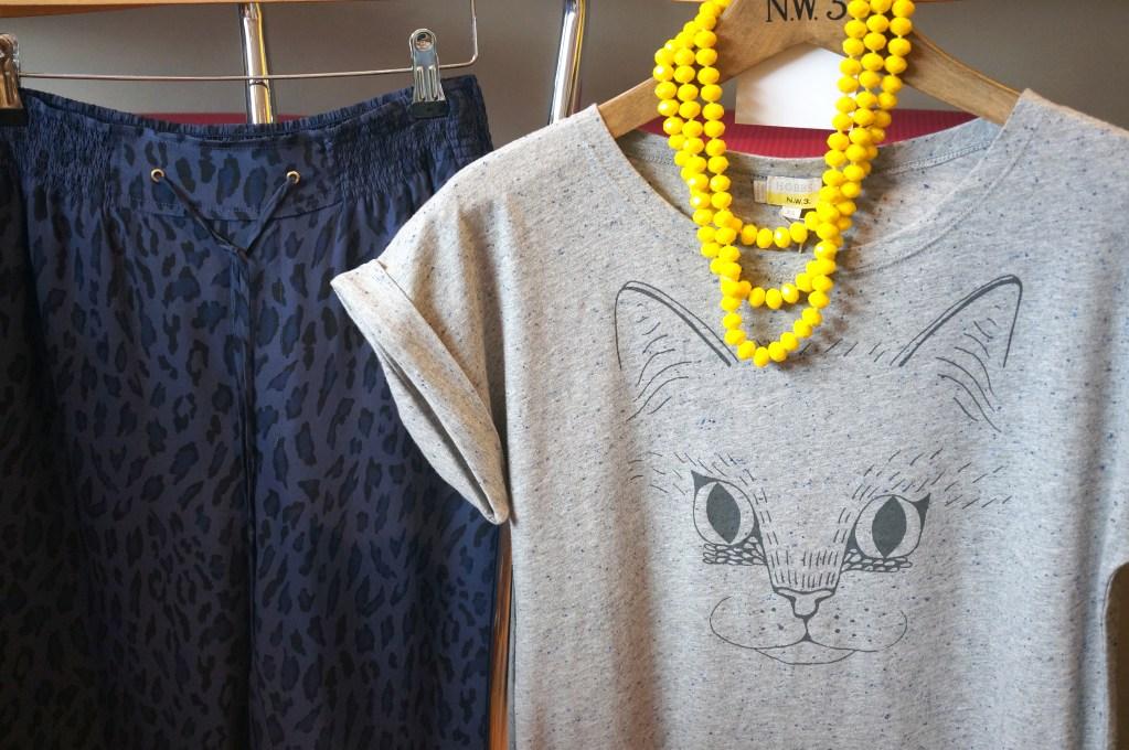 cat print tshirt