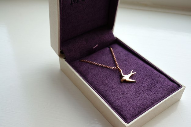 dainty swallow necklace