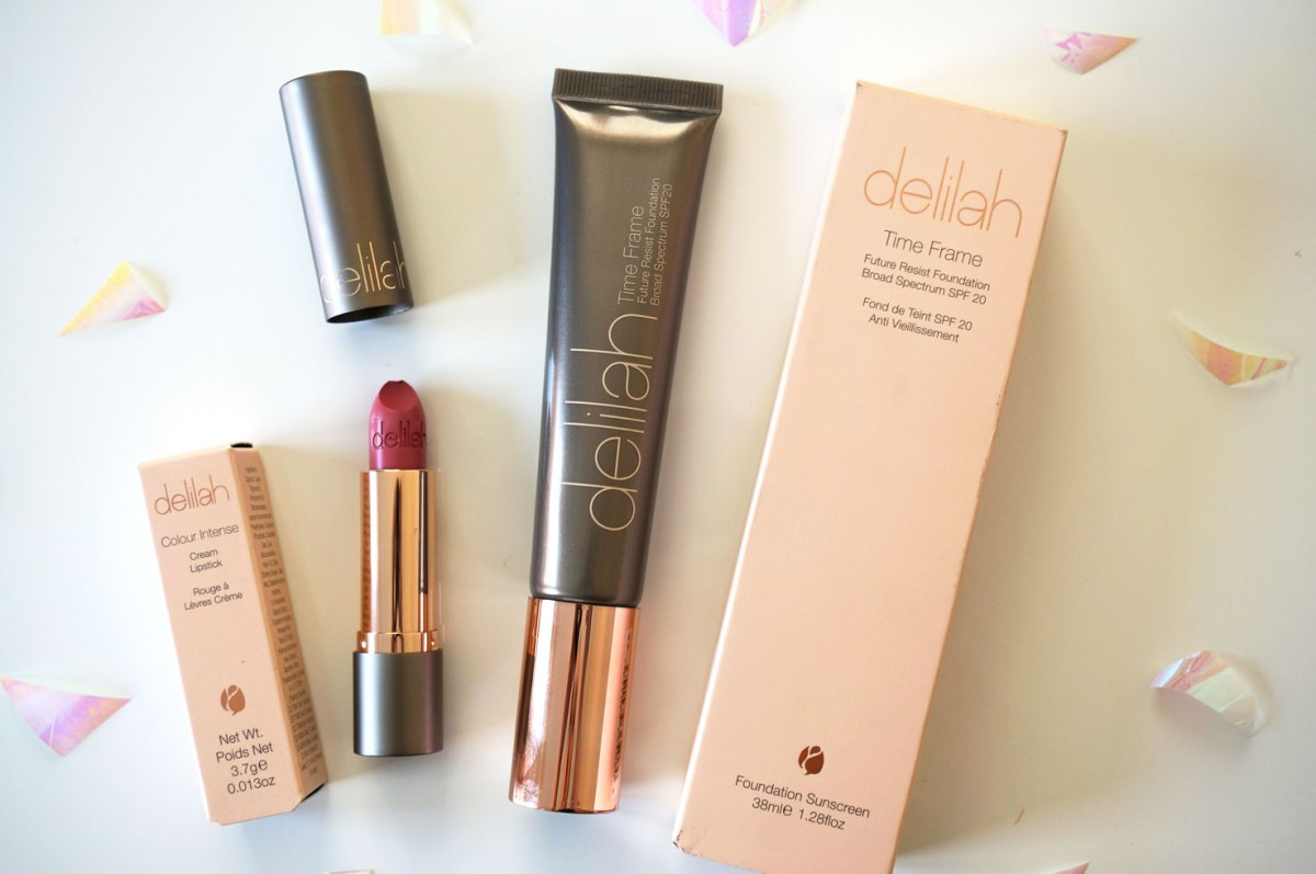 Delilah Cosmetics Foundation & Lipstick | Review