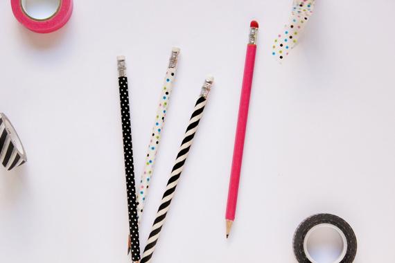 washi tape pencils