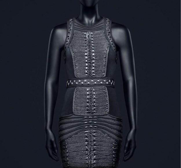 hm-balmain-grey-statement-dress