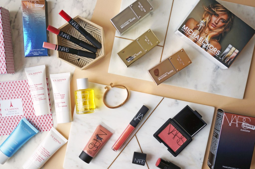 World Duty Free Beauty Exclusives: NARS / Michael Kors / Clarins