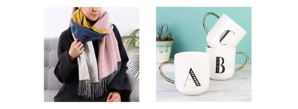 lisa angel scarf mug