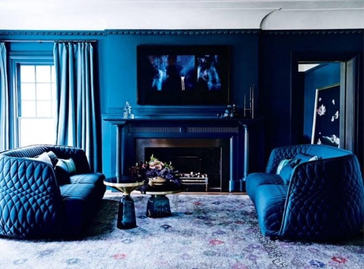Monochrome blue Interior