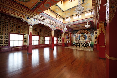 Main Shrine Hall Lhakhang Thrangu Monastery Canada