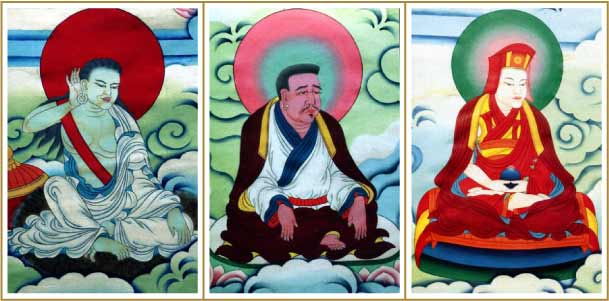 Milarepa, Marpa and Gampopa
