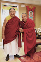 Lama Pema with His Holiness Sakya Trizin Rinpoche