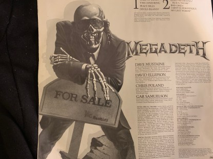 MEGADETH ALBUM PEACE SELLS INSERT