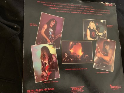 Hell Awaits back cover