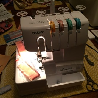 Finally getting a chance to try out the serger, it moves FAST.