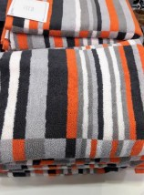 Orange Black Grey Towels