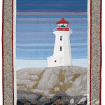 Nova Scotia: Peggy's Cove thread painting by Bridget O'Flaherty