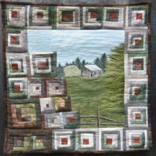 Log Cabin Never Square by Fibre Art Bridget O'Flaherty