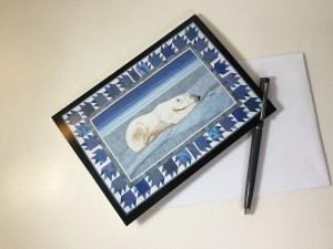 Art card Nunavut. Thread Painted Art by Bridget O'Flaherty