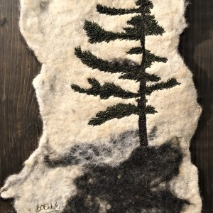 Felted Thread Art Large