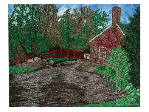Stewart Park thread painting by Bridget O`Flaherty