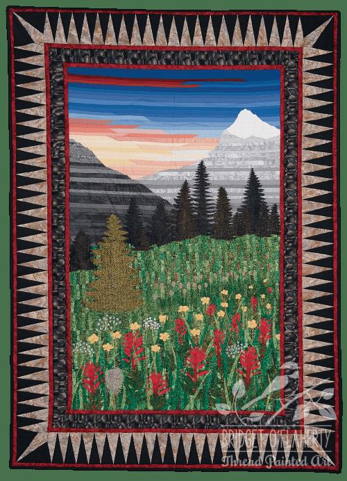 BC Wildflowers thread painting by Bridget O'Flaherty