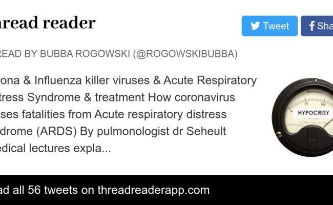 Thread By Rogowskibubba Corona Influenza Killer