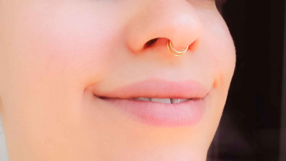 Enhanced Natural Beauty With A Nose Ring Threads