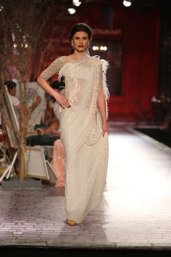 Fringed Saree Trend Fashion In India Threads