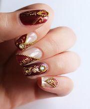 nail art indian brides fashion