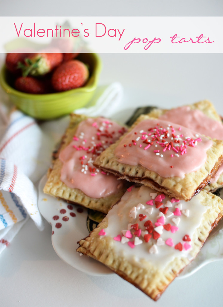 Homemade pop tarts with a Valentine's Day twist