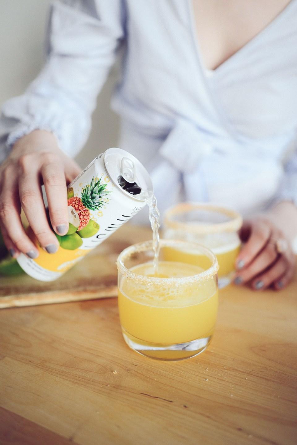 Coconut Water Cocktail - a Spice Margarita Recipe