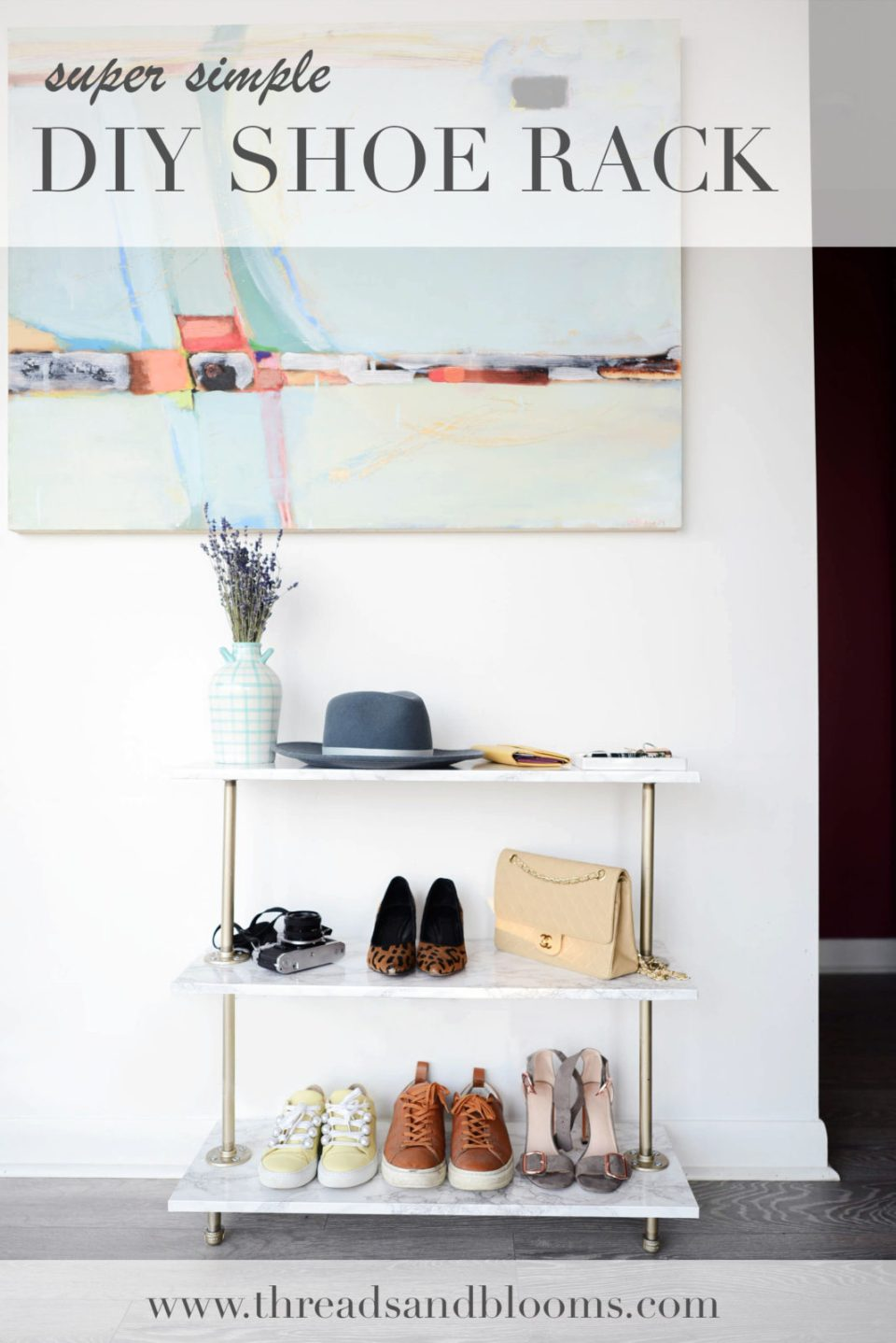 Simple DIY Shoe Rack