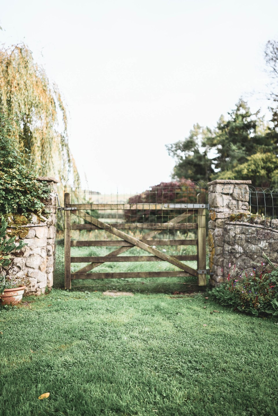 Farmhouse Gate in the English Countryside