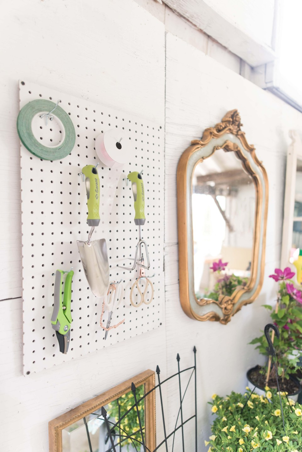 Pegboard for Garden Tools
