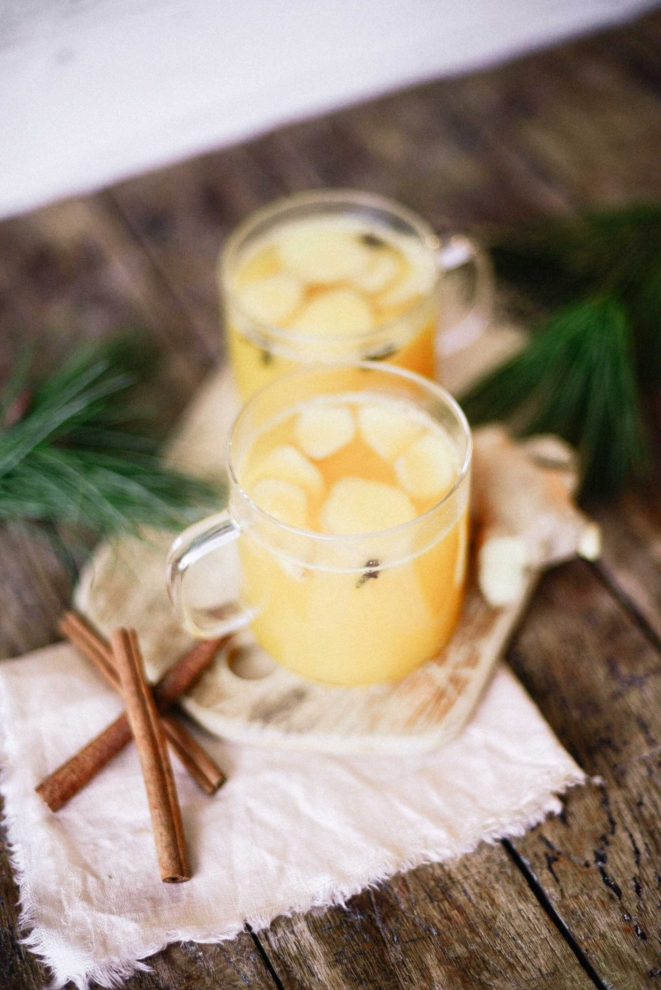 Delicious warm non alcoholic punch