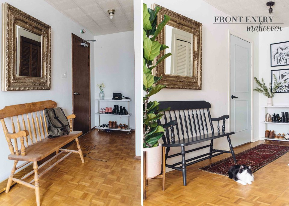 Front Entry Makeover - Entryway Decor Ideas for a beautiful and functional front entryway