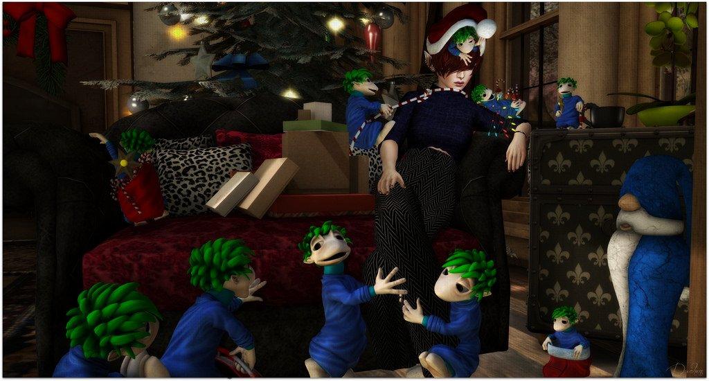 Christmas Morning Shenanigans