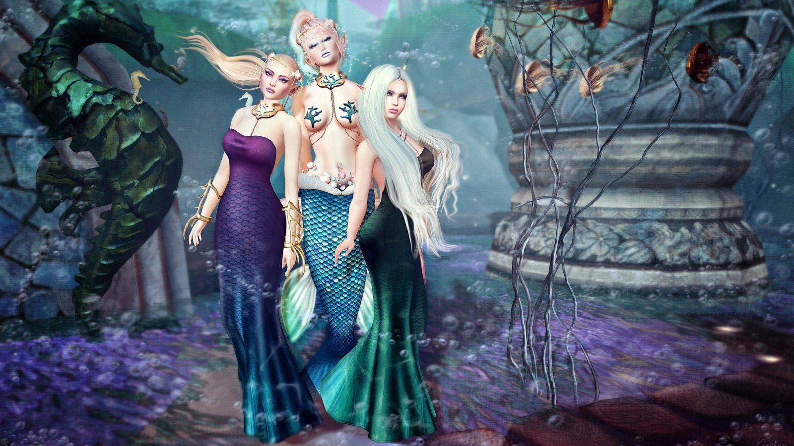 The Mermaid Menage