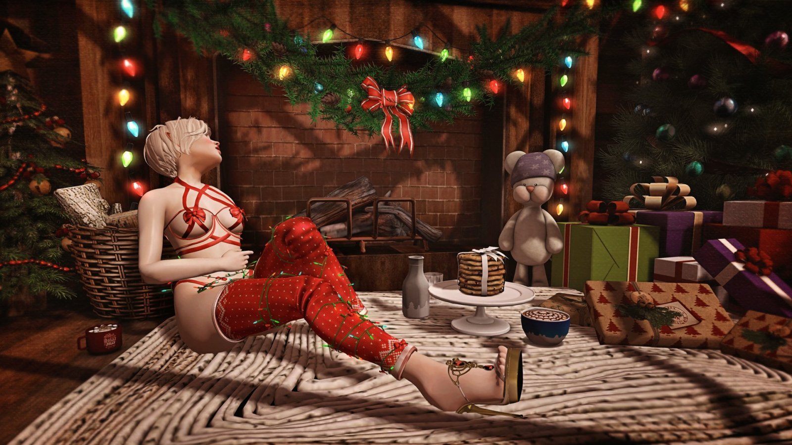 Santa baby, hurry down the chimney tonight….