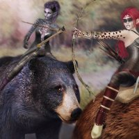 Hunting with the bears