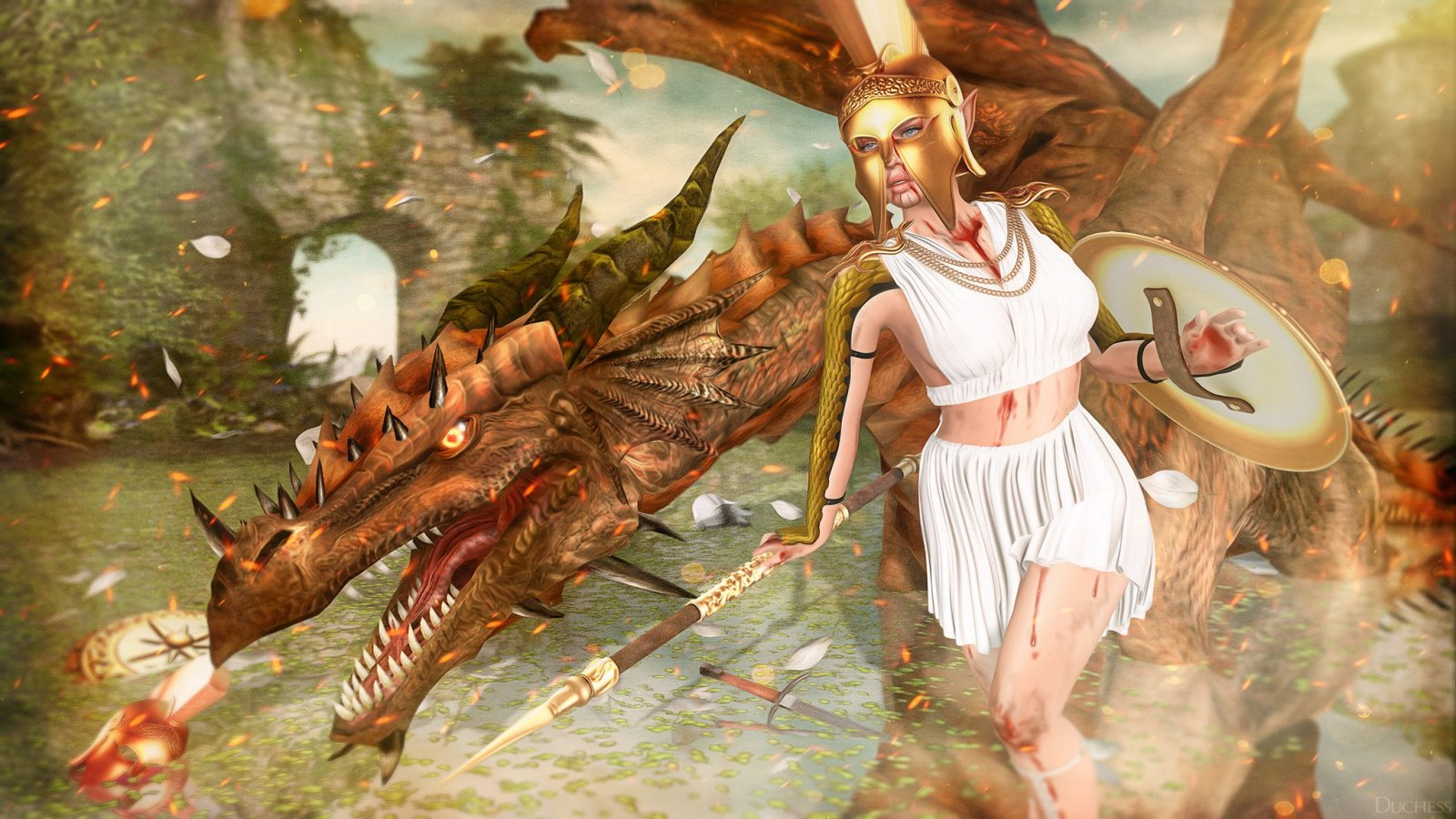 Athena and Draco