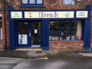 Threads of Minehead for Fabrics Wools and Haberdashery Shop