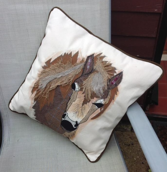 Exmoor Pony Cushion Front