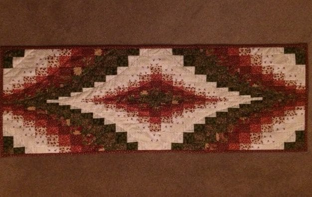 Bargello Christmas Table Runner