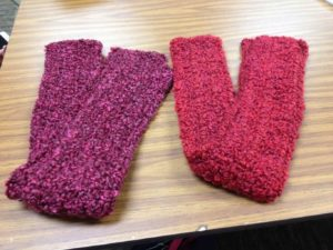 "2 scarves received from the ""Threads of Compassion Infinity Scarf - Buy One, Give One"" program offered on Etsy."