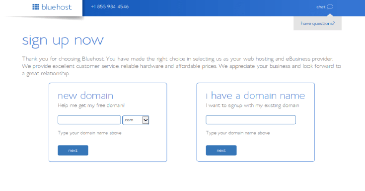 How to start a blog bluehost Pick a Domain