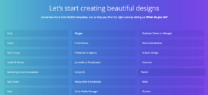 How To Create Images For Blog canva start page