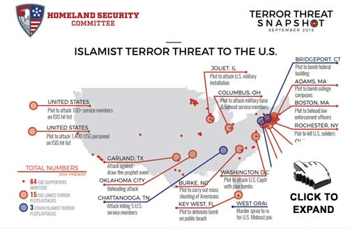 Islamist Terror Threat Snapshot Map - ALLOW IMAGES