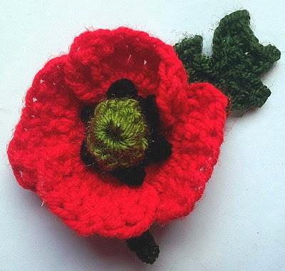 crochet poppy pattern, knitted poppy, crochet flower, remembrance poppy