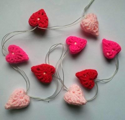 light up with hearts, heart fairy lights,valentine heart lights