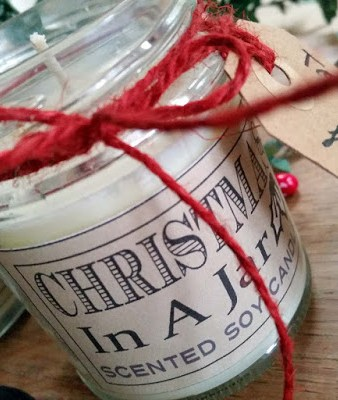 make your own scented Christmas Candles, Soy candle, christmas spice, scent of christmas, scented candle