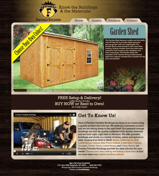 Stylish Responsive portable Building web site design